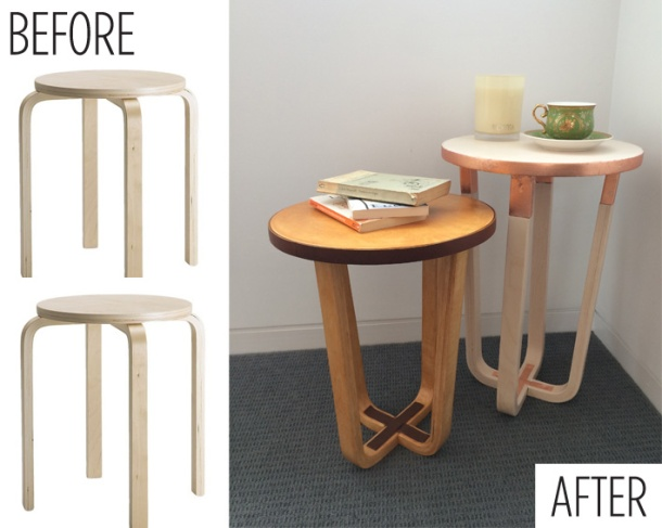 ikea hack frosta stool the second copper and lime wash hardly handy. Black Bedroom Furniture Sets. Home Design Ideas