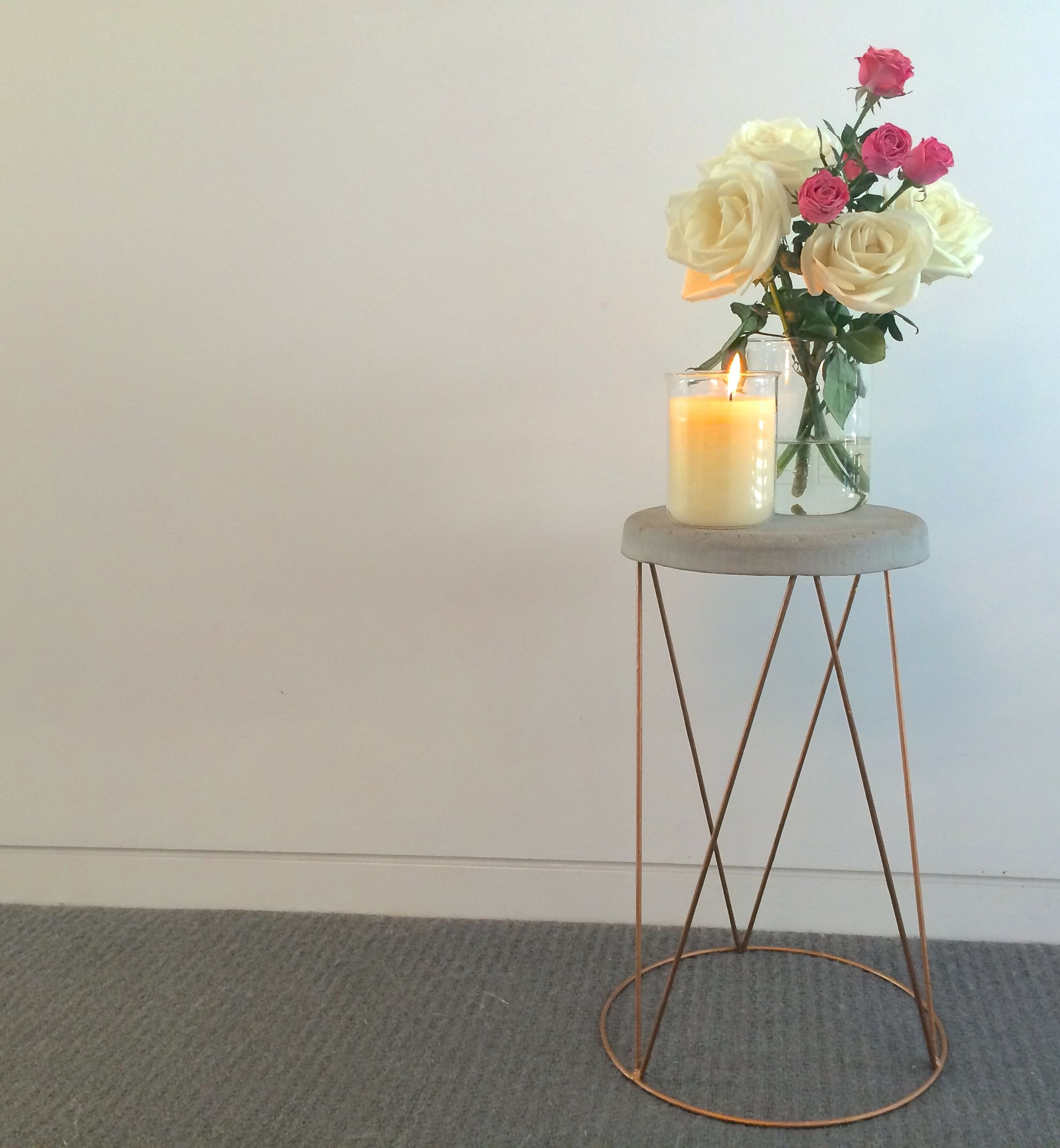 Kmart Plant Stand Turns Concrete Side Table Hack Hardly