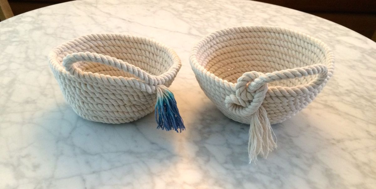 Rope Bowls - Two ways to DIY